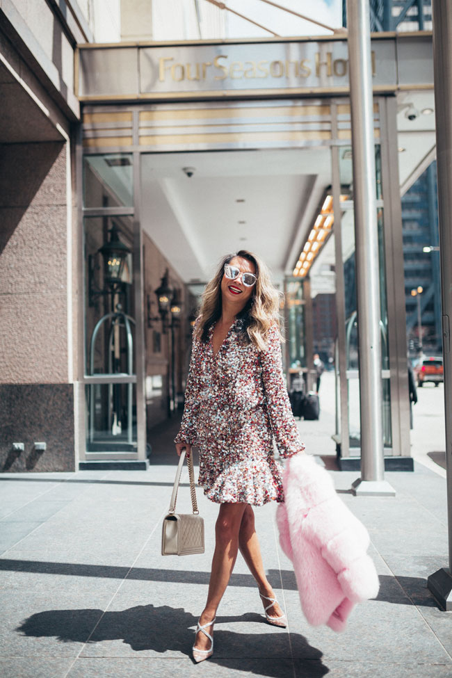 Alexis Sequin Dress, Best Mother's Day Brunch at Four Seasons Chicago