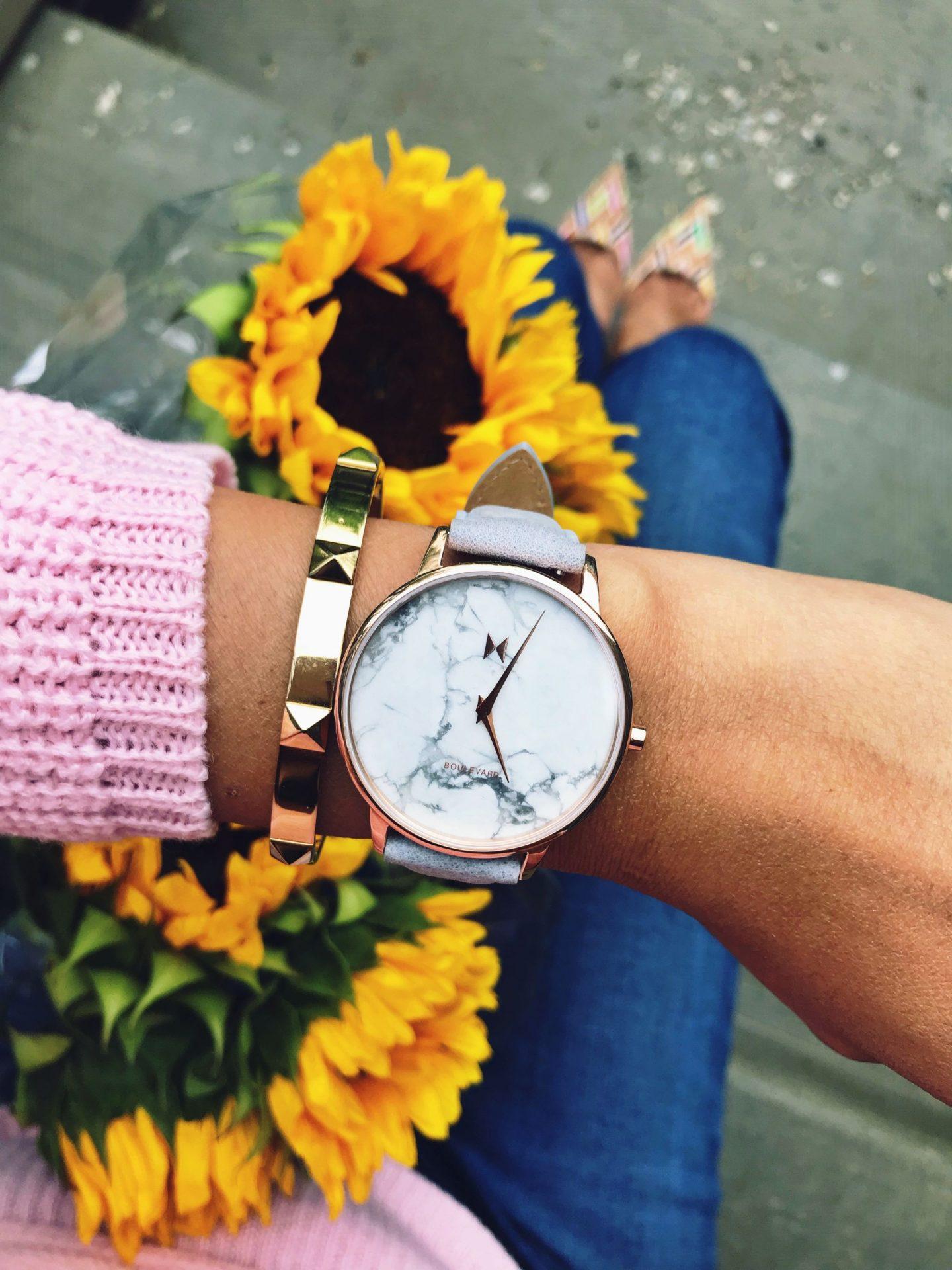 MVMT marble watch