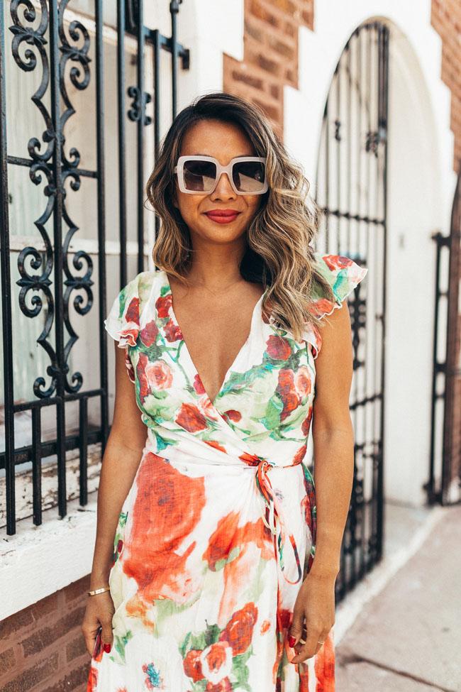 jennifer worman maxi dress, floral maxi dress