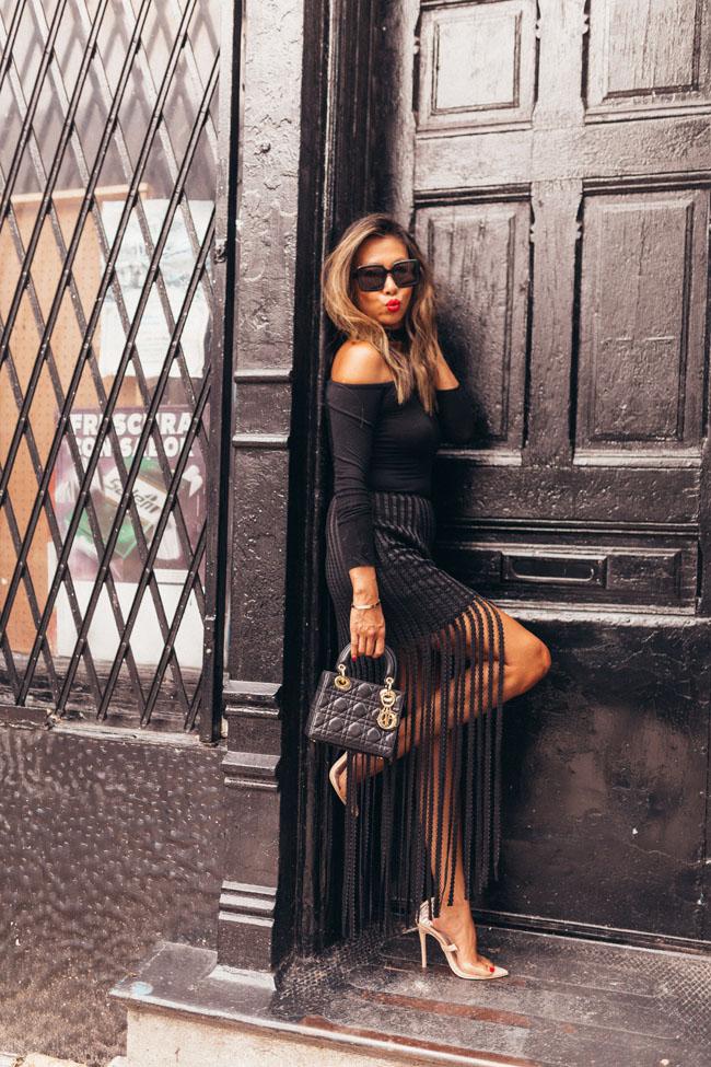 black fringe skirt, Akira Black Skirt, All Black Style, Best Skirt for a girls night out