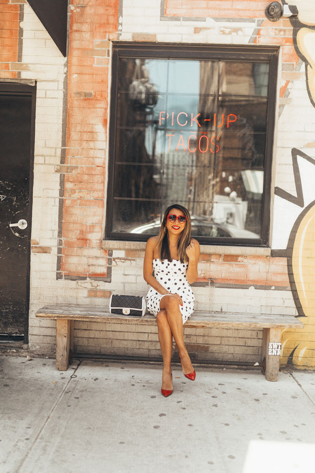 polka dot dress, best summer dress, Chicago summer dress, Chicago style blogger