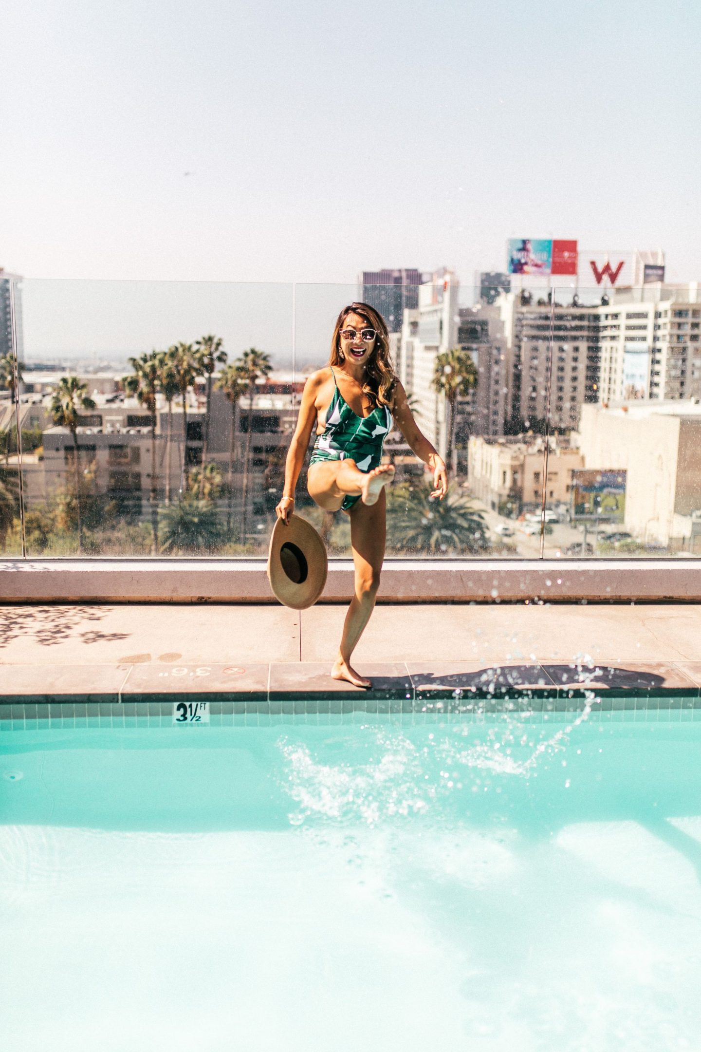 3 things to do in the summer, must dos for summer, palm leaf swimsuit, chicago summer most do, jennifer worman