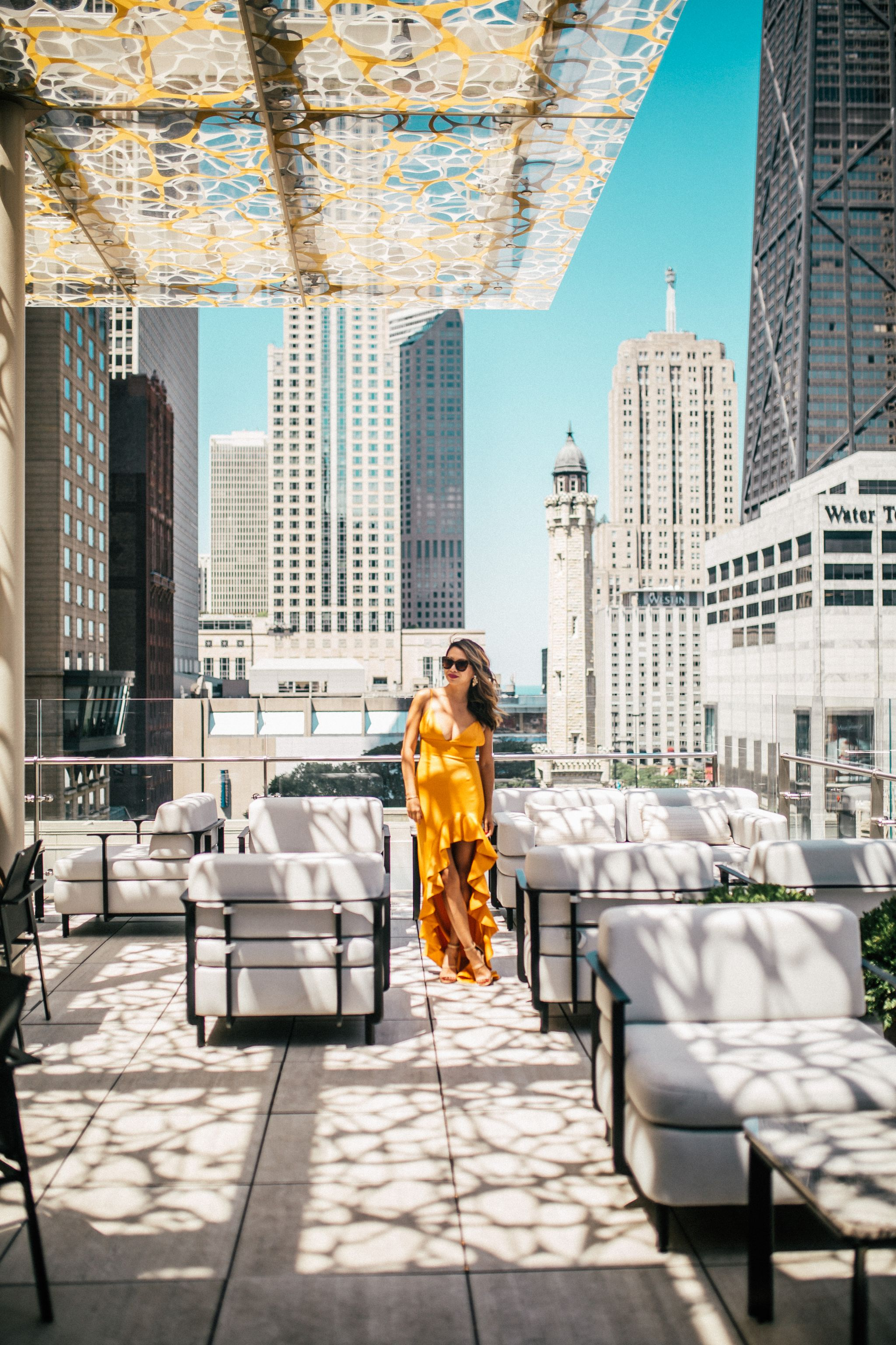 Best Chicago Rooftop Bars - Red Soles and Red Wine