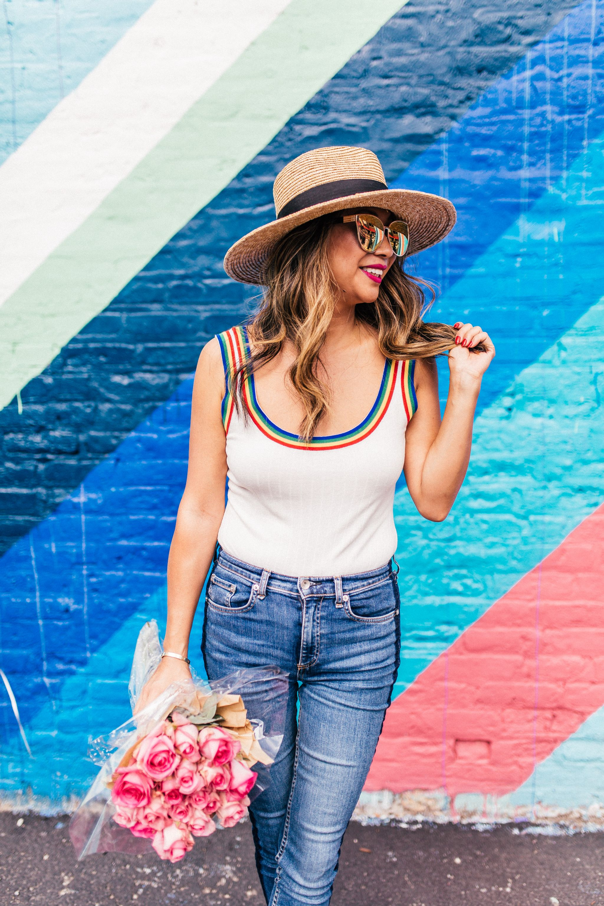 Rainbow Revolve Bodysuit, Wearing Bodysuits and Tips , White Tank Bodysuit, Jennifer Worman, Chicago Style Blogger