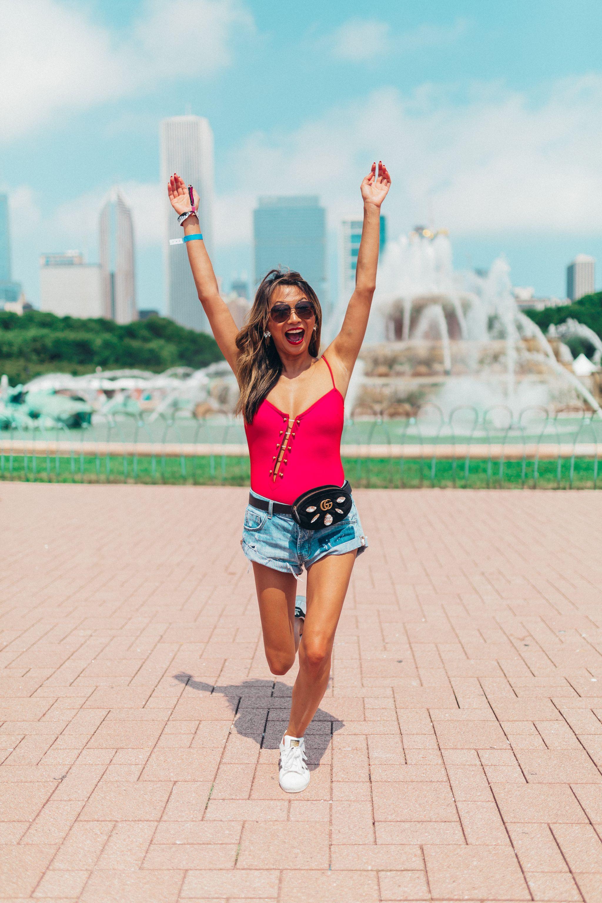 H:ours Mari Bodysuit, Why I love bodysuits, Lollapalooza 2018, Revolve Bodysuit, Jennifer Worman, Chicago Fashion Blogger, Chicago Mommy Blogger