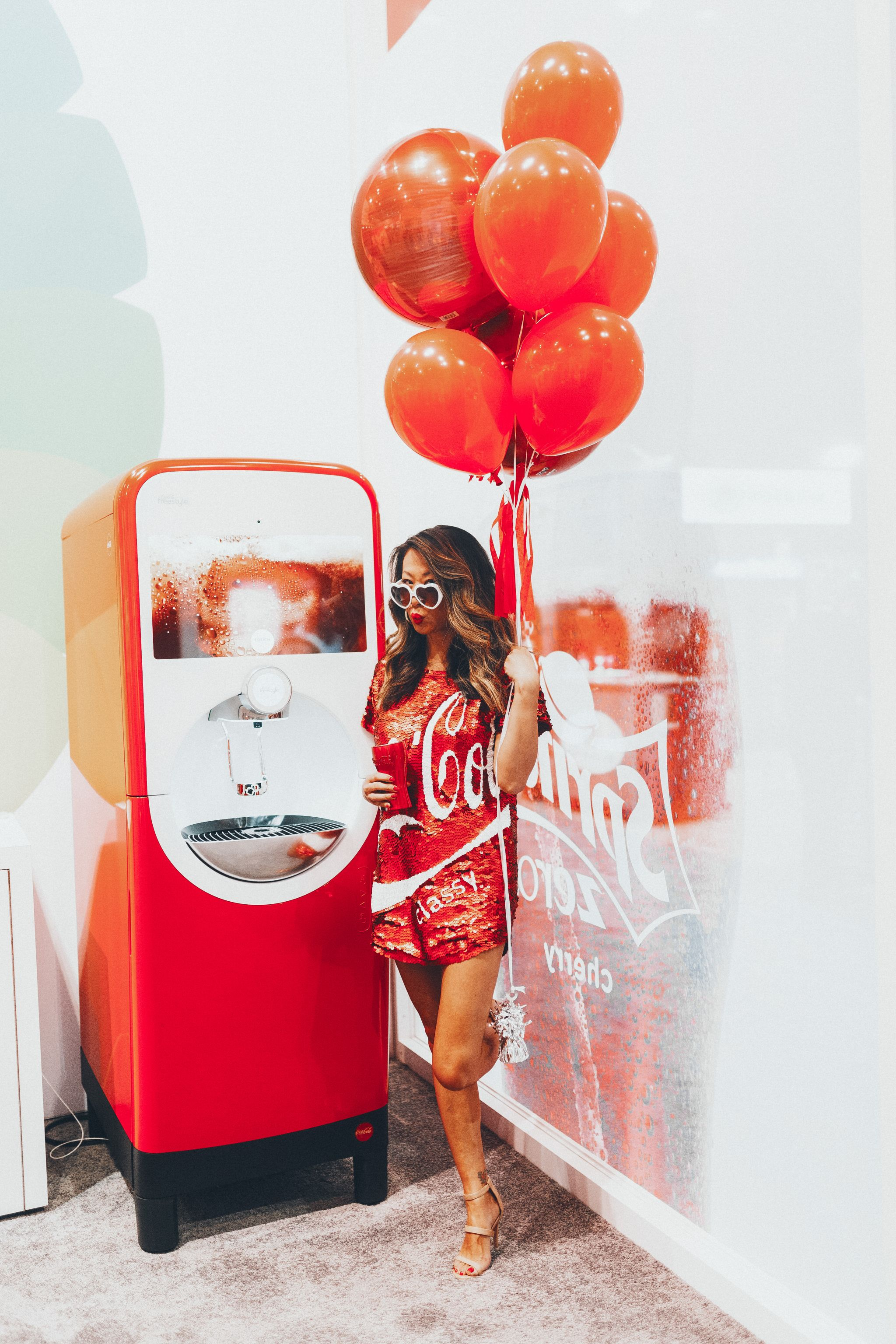 Coca Cola Sequin Dress, Coke Dress, Chicago Food Blogger, Jennifer Worman, Coca Cola Attire