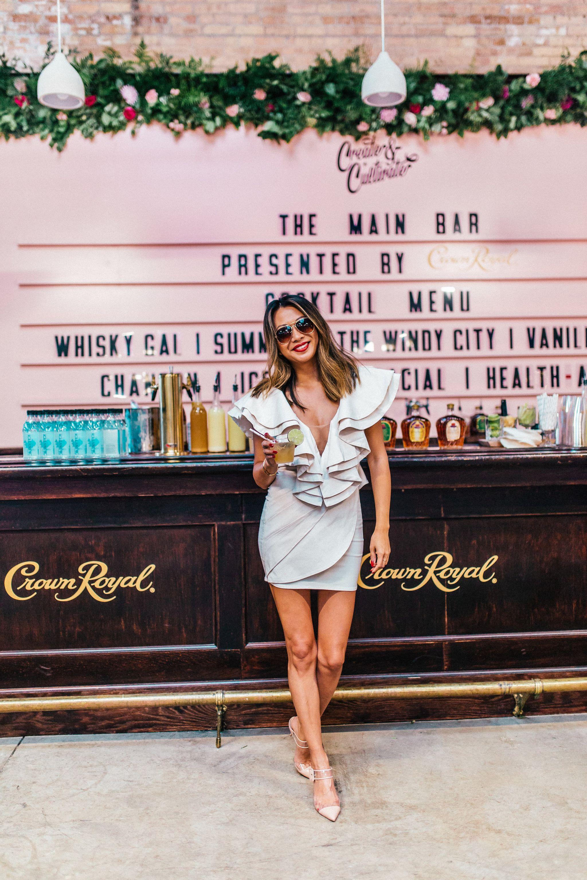 Revolve White Dress, Best Revolve Clothing Dress, Michael Costello Dress, Jackson Dress, What to wear for Girls Night Out, Best Vegas dress