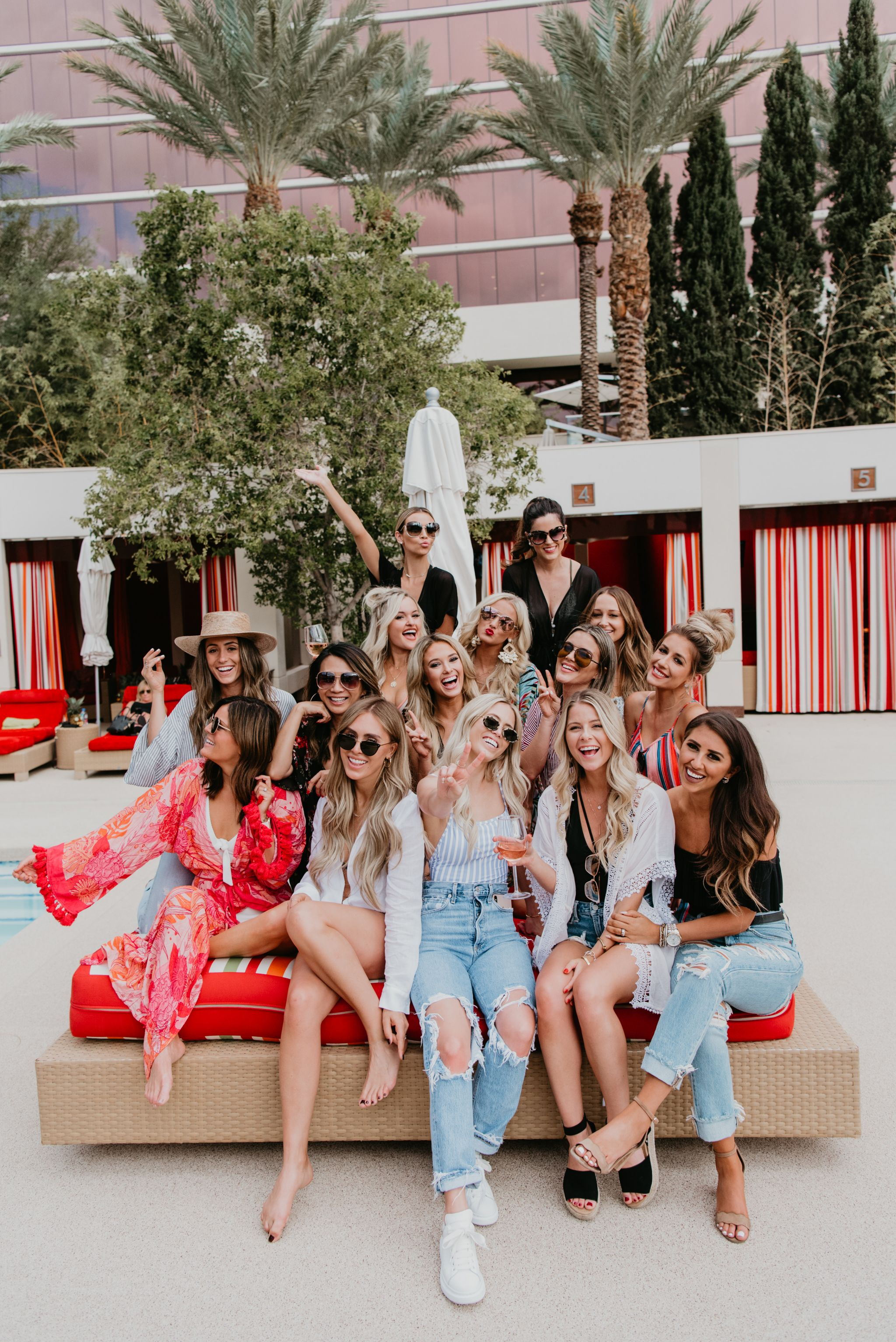 Wilson Gabrielle Style Society Las Vegas, Dress up Buttercup, Champagne and Chanel, Jennifer Worman Travel Blogger, Pool Party Red Rock Hotel
