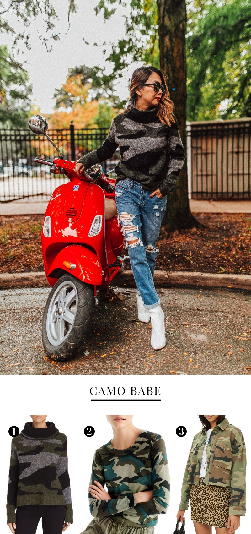 best camo sweaters for fall, fall outfit ideas, how to style camo print, best sweaters under $150, mom style, outfits for moms, Jennifer Worman, Red Soles and Red Wine, Fashion bloggers, style blogger, chicago bloggers
