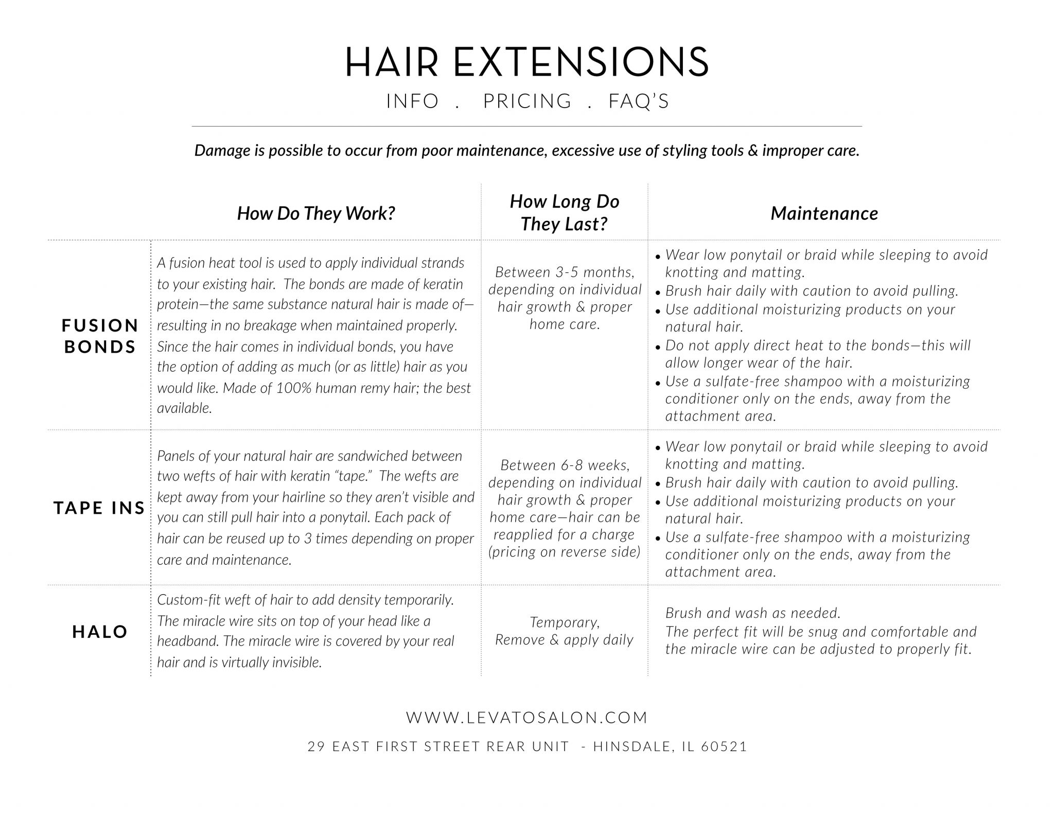 Hair extensions information, Tape Ins versus Fusions Bonds, Best Hair Extensions in Chicago, Levato Salon, Hinsdale Salon