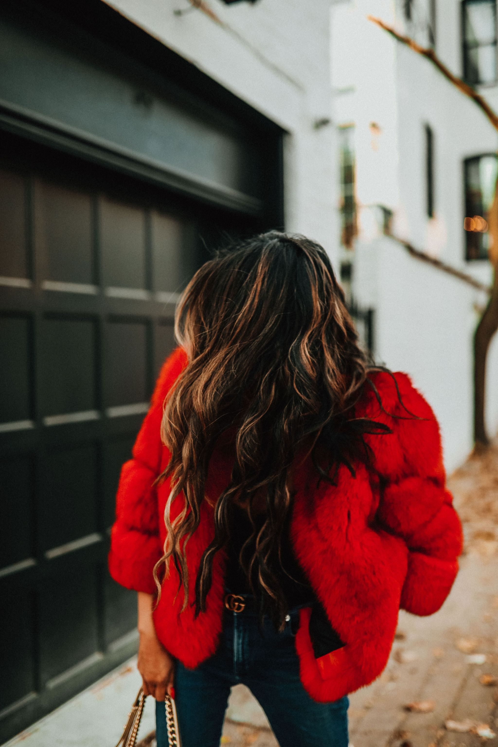 Red Fox Fur Coat, Red Faux Fur Coat, Best coat for winter in Chicago, Holiday Style in Chicago, Style Blogger Chicago, Jennifer Worman, How to style a colored fur