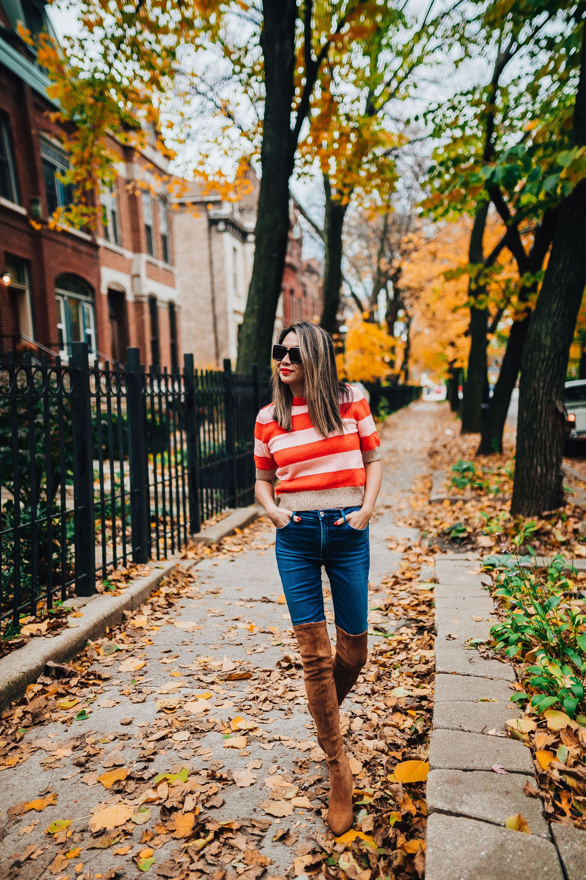 Nordstrom Style, Topshop Sweater, Chicago Style Blogger, Jennifer Worman, Best Chicago Lifestyle Blogger, Fall in chicago, Best over the knee boots, goodnight macaroons over the knee boots, Fall Style Steals