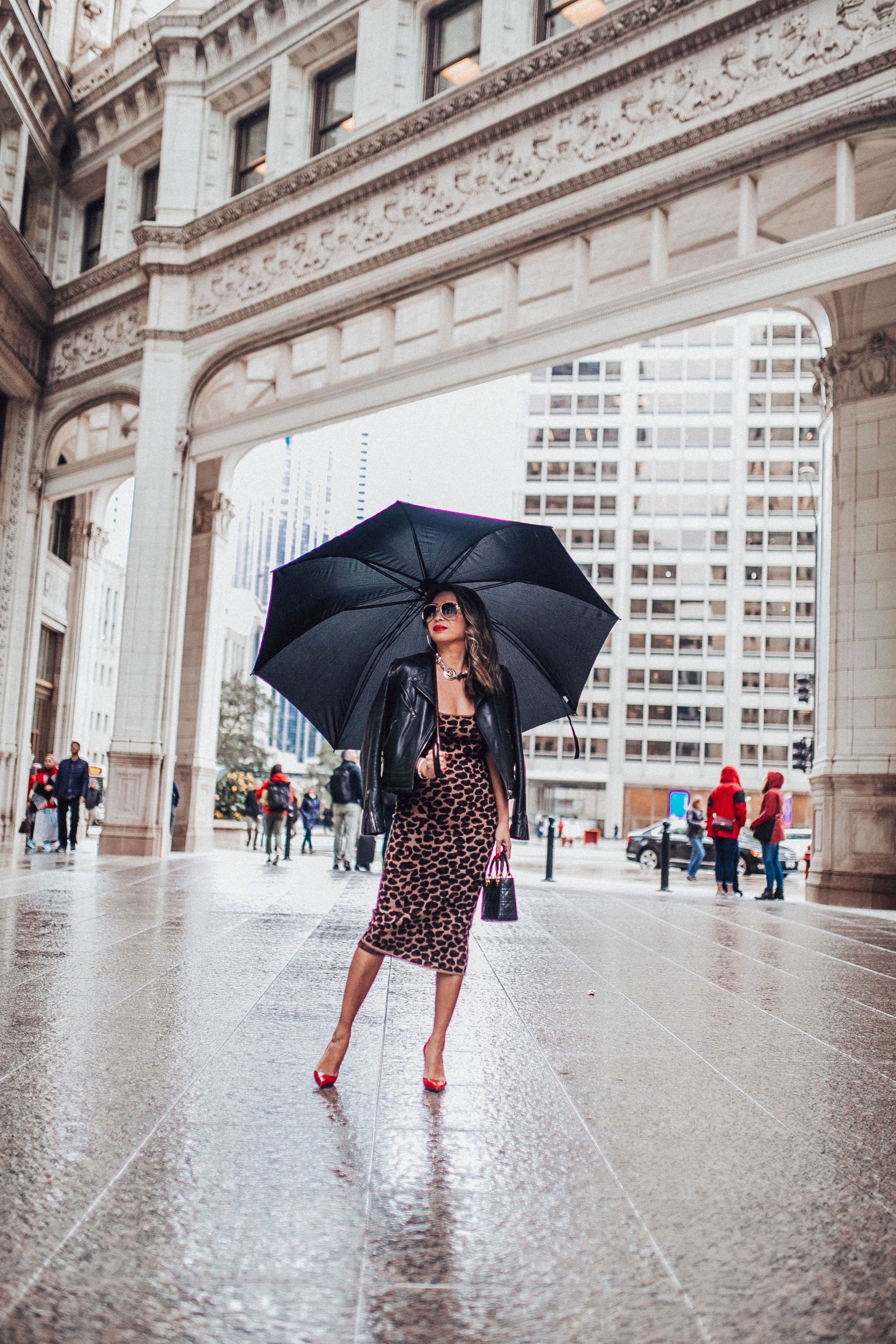 best places to take photographs in chicago, chicago blogger, jennifer worman, best spot in chicago to visit, chicago mom, leopard dress