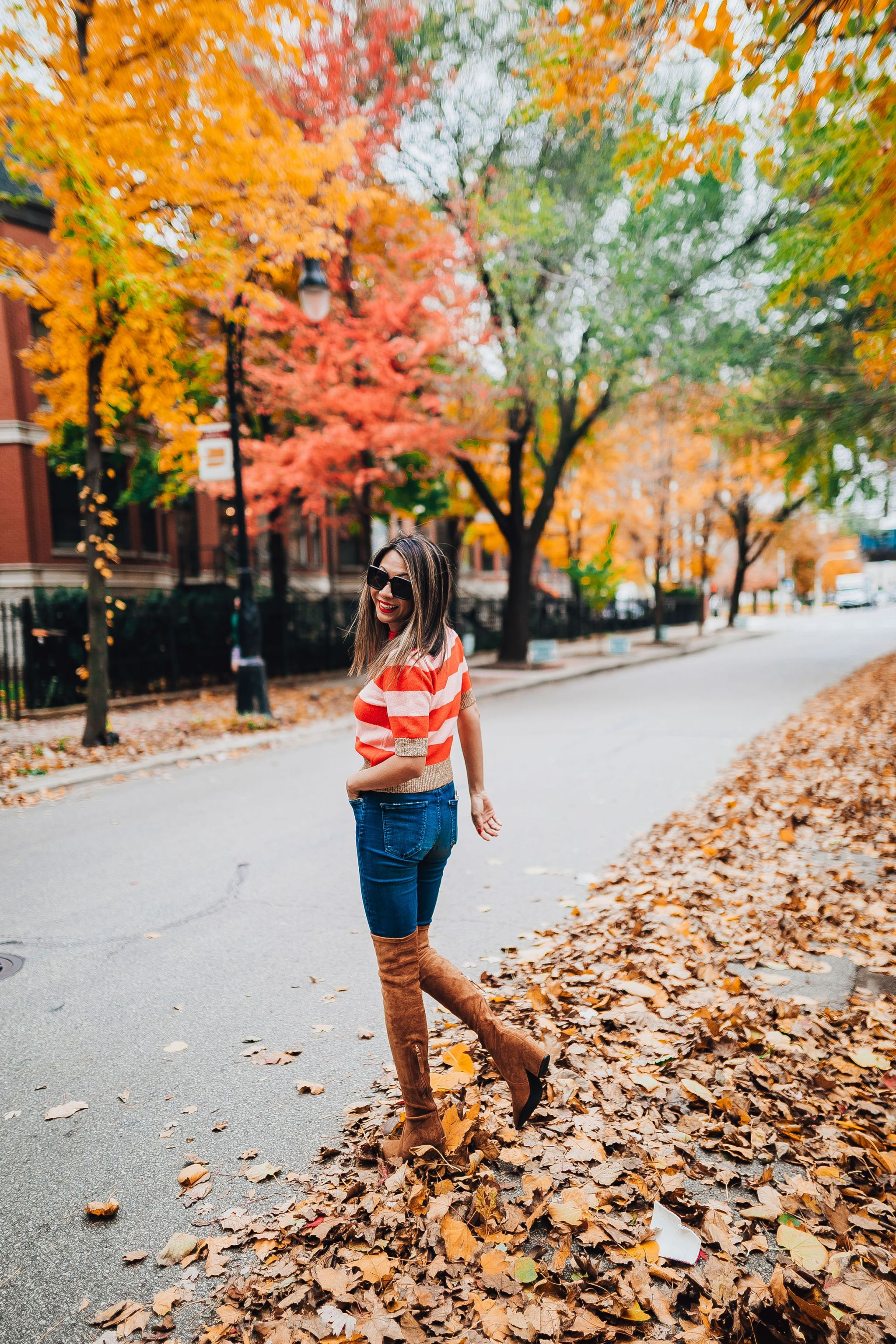 Nordstrom Style, Topshop Sweater, Chicago Style Blogger, Jennifer Worman, Best Chicago Lifestyle Blogger, Fall in chicago, Best over the knee boots