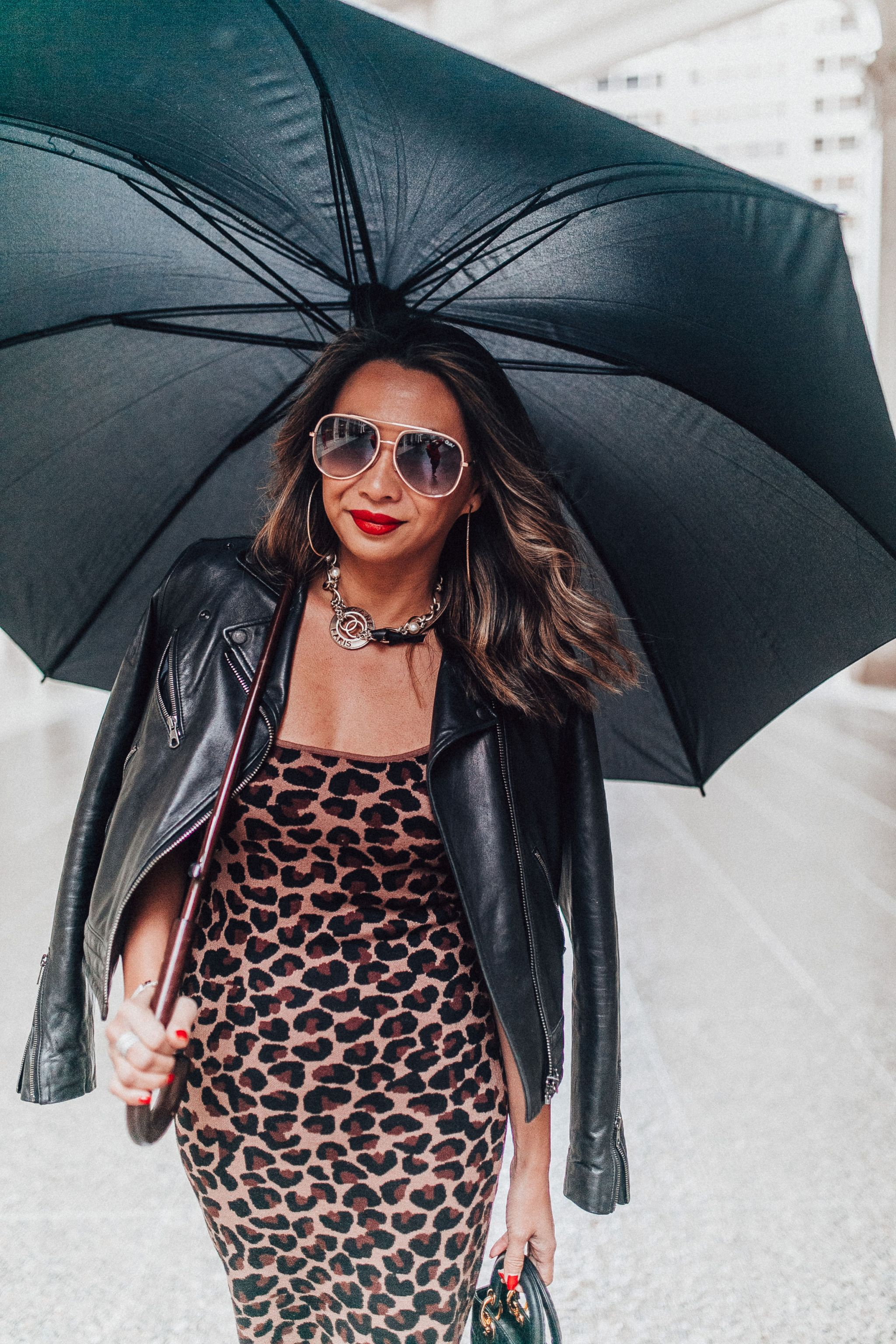 Jennifer Worman, Chicago Blogger, best chicago blogger, fashion blogger, style blogger, Q&A about me, leopard dress, red heels, leather jacket, how to style a leopard dress