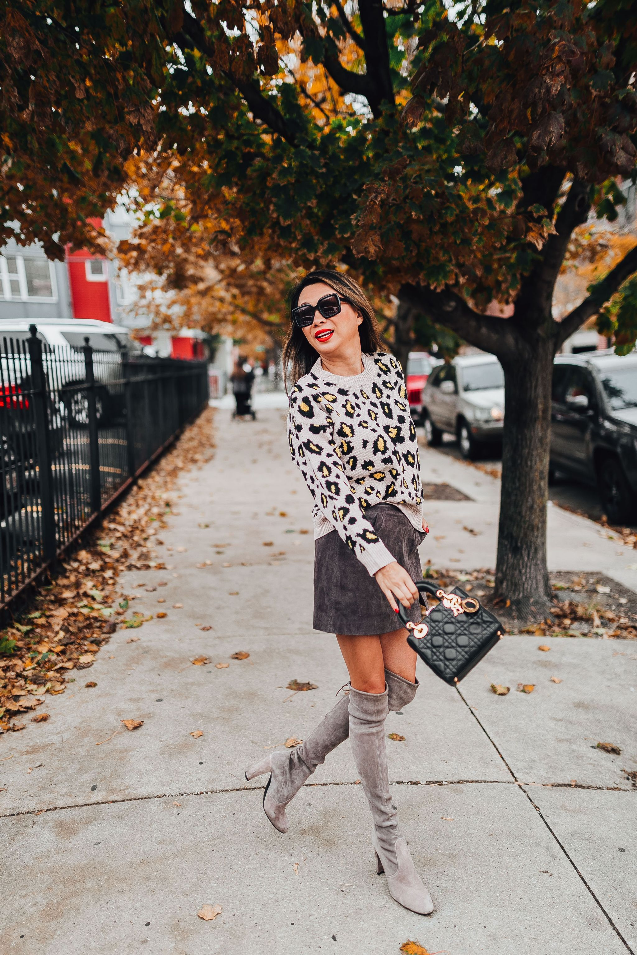 Leopard sweater, goodnight macaroons, style steal leopard sweater, best fall style, chicago fall style