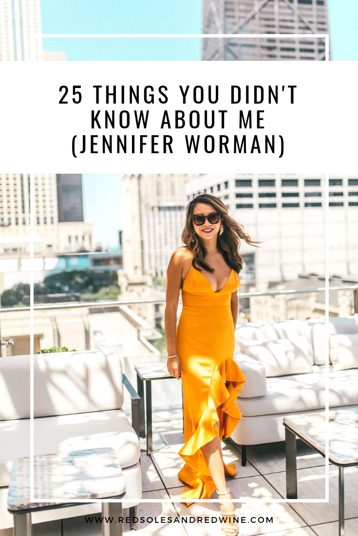 25 things you didn't know about me, chicago blogger, Jennifer woman, interview, get to know me