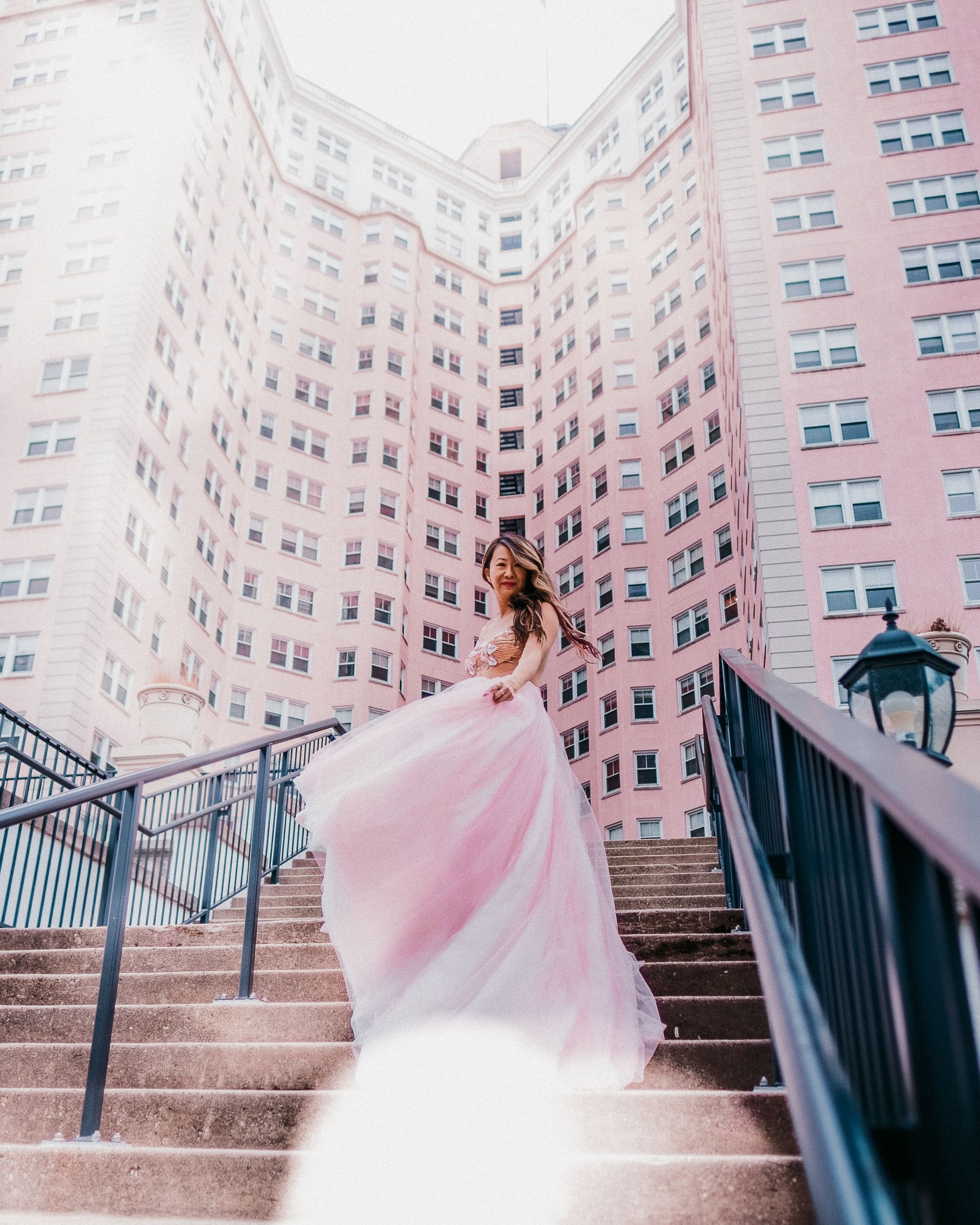 Viero Bridal Custom Gown, Viero Bridal Chicago, Pink Tulle Custom Gown Chicago, Best Bridal Salon Chicago, Chicago Fashion Blogger, Pink Edgewater Hotel, Custom gowns in Chicago, Jennifer Worman