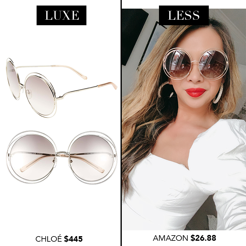 Chloe Carlina Sunglasses, Chloe sunglasses dupes, designer sunglasses dupes, luxe for less sunglasses, designer sunglasses for less, amazon finds, amazon shopping, sunglasses from amazon, designer dupes from amazon, spring 2019 finds from amazon
