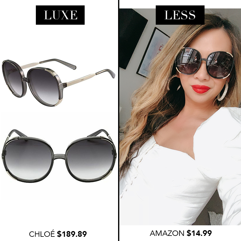 Chloe Myrte Sunglasses, Chloe sunglasses dupes, designer sunglasses dupes, luxe for less sunglasses, designer sunglasses for less, amazon finds, amazon shopping, sunglasses from amazon, designer dupes from amazon, spring 2019 finds from amazon