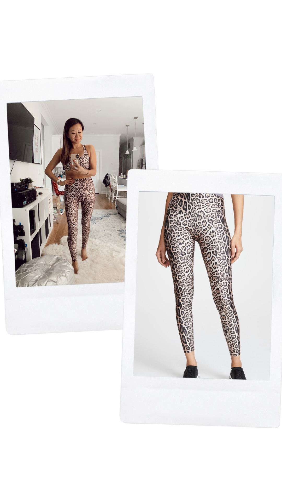 Onzie leopard leggings and sports bra, cute leopard print workout set, high waisted leggings and sports bra, leopard leggings, leopard sports bra, shopbop picks, shopbop sale, spring workout outfit ideas, workout style, workout outfit, yoga outfit