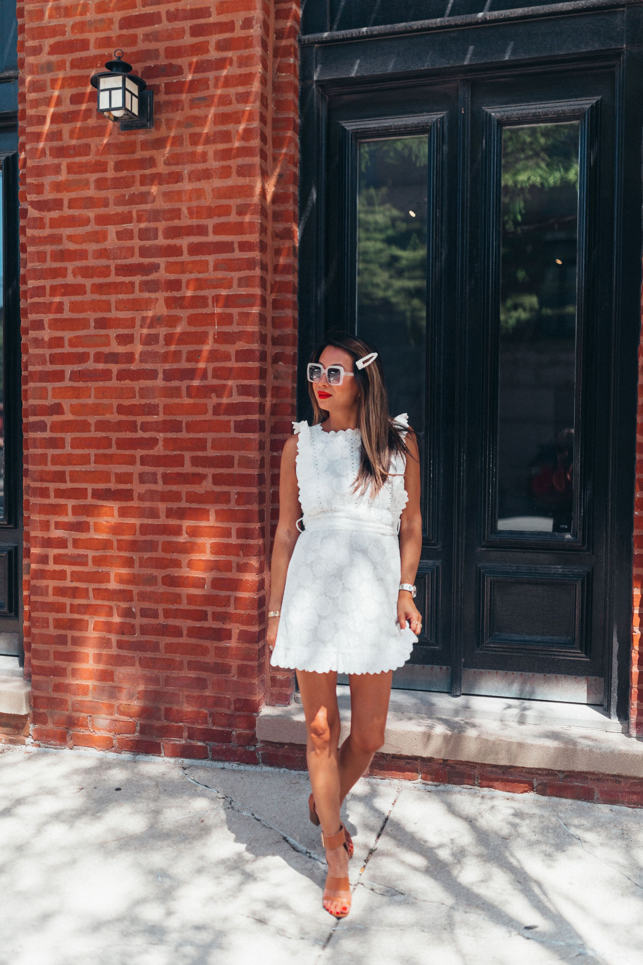amazon fashion, white eyelet dress, white dress for summer, best amazon white dress, what to wear in the summer, chicago summer style, Jennifer Worman, Best Chicago Fashion Blog, Best Chicago Mom Blogger, Best White Dresses for Summer