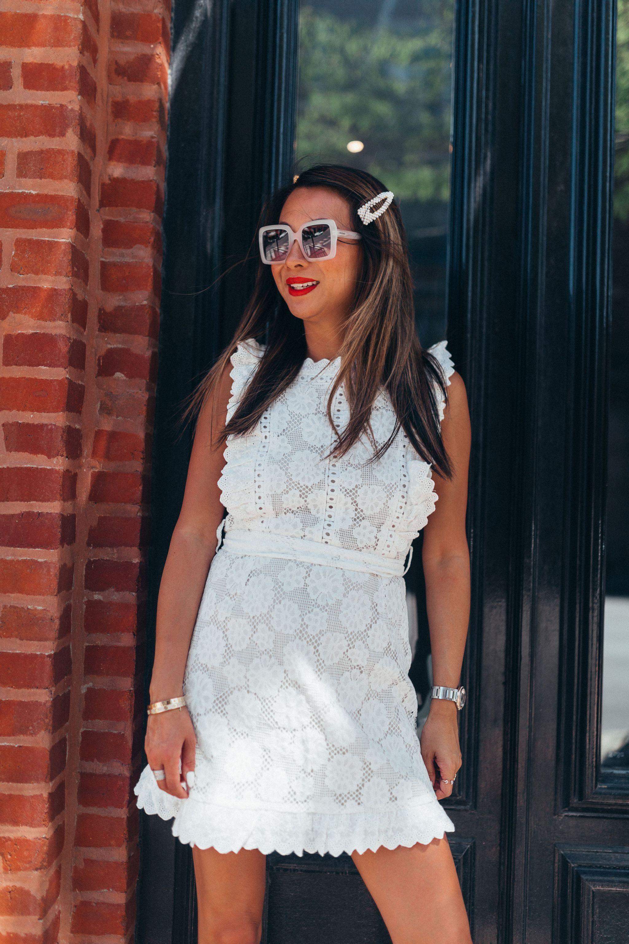 amazon fashion, white eyelet dress, white dress for summer, best amazon white dress, what to wear in the summer, chicago summer style, Jennifer Worman, Best Chicago Fashion Blog, Best Chicago Mom Blogger, Be, White Dresses for Summer