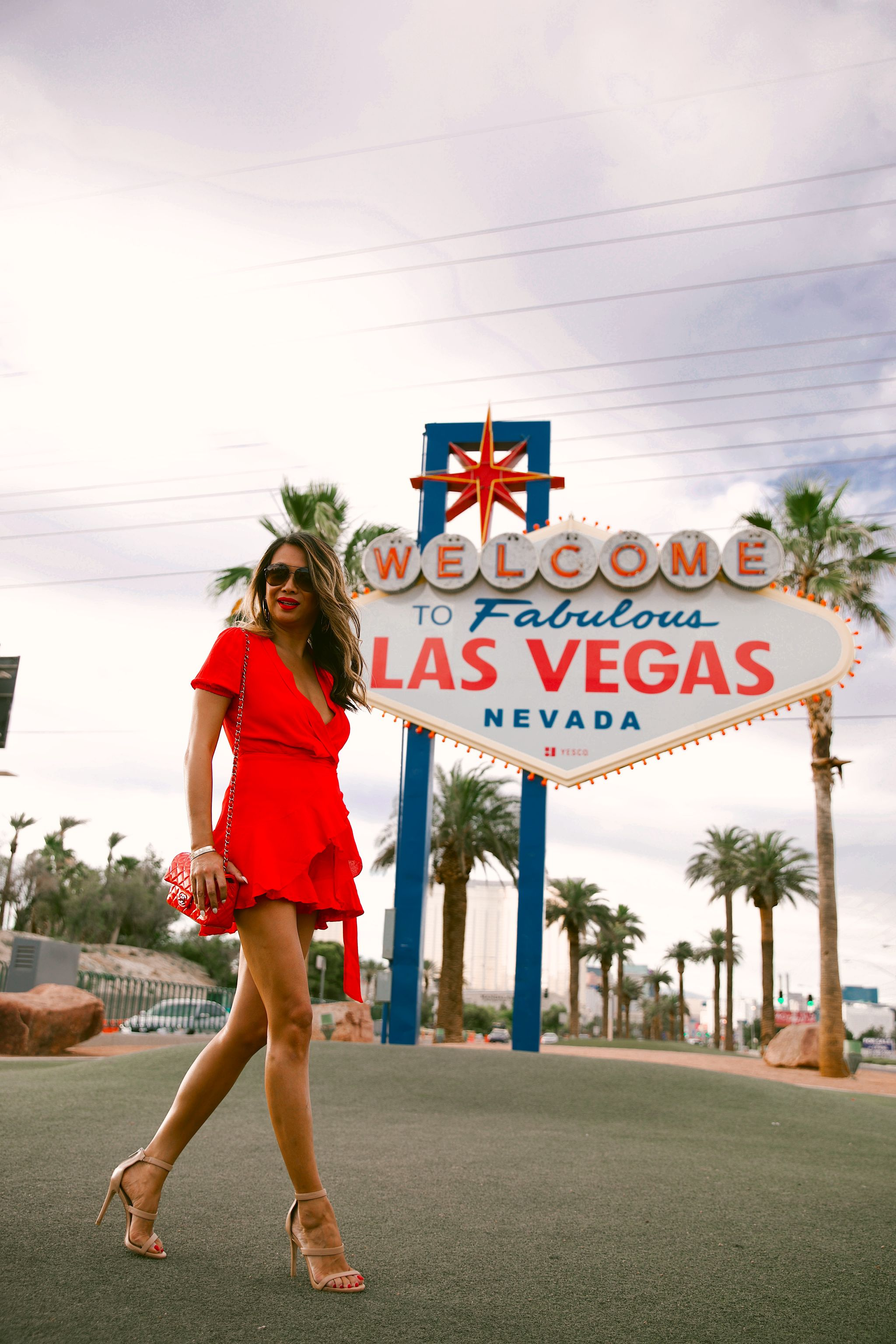 Jennifer Worman, Red Soles and Red Wine, chicago blogger, travel blogger, fashion blogger, outfit ideas, June Recap, monthly recap, June 2019, fashion and lifestyle blog, travel blog, Akira red wrap dress, las Vegas travel guide, Las Vegas trip, Welcome Las Vegas Sign