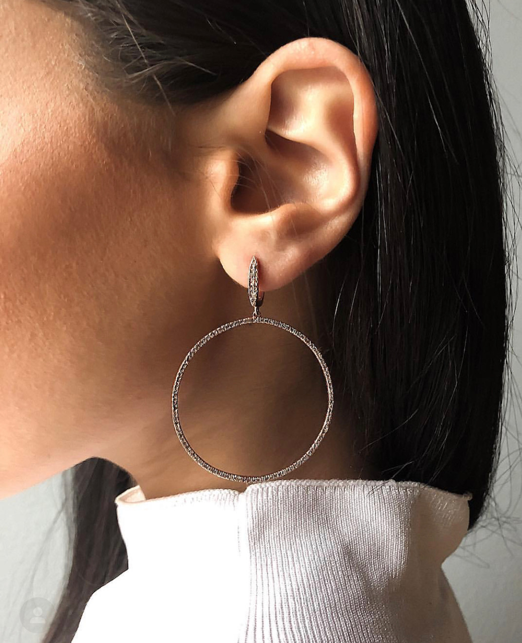 Be Loved Jewelry, Be Loved Chicago, Chicago jewelry designer, chicago jewelry company, diamond earrings, diamond hoop earrings