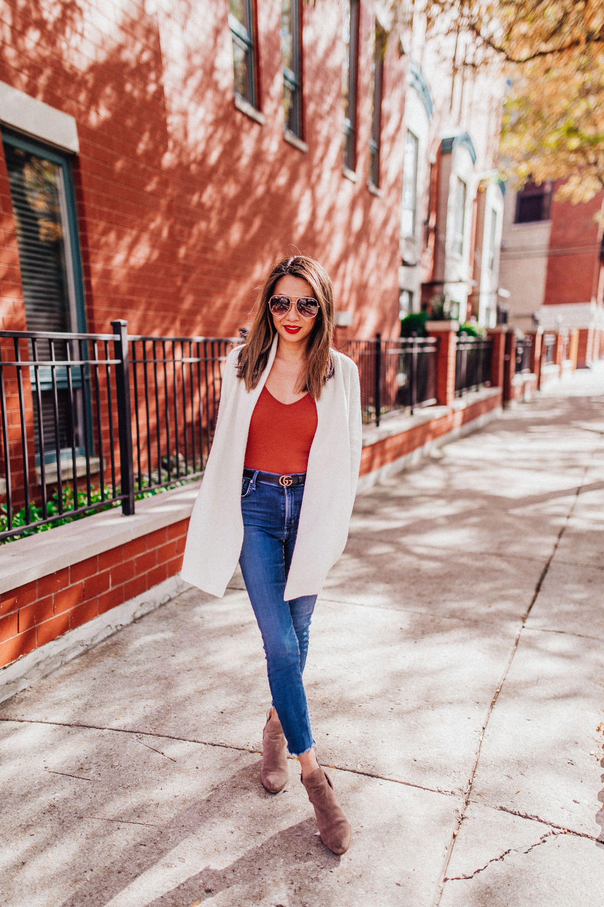 Nordstrom Anniversary Sale, Best Cardigan, How to style fall looks simply, Fall Chicago Style