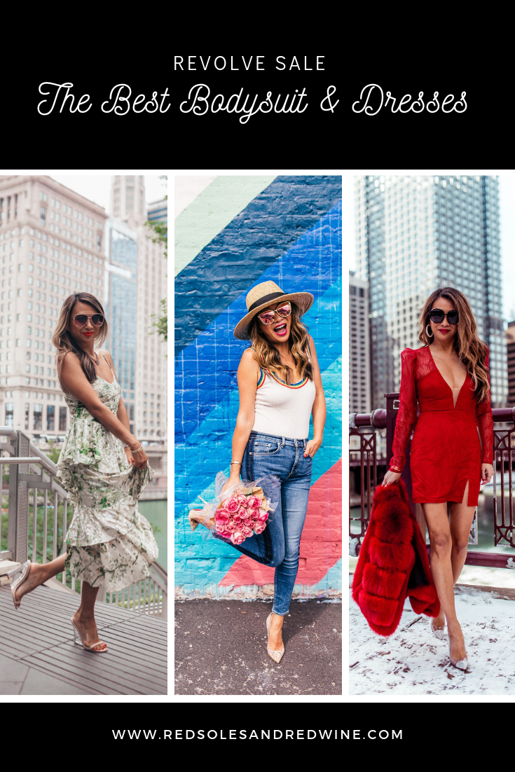 best bodysuit and dresses on sale at revolve, revolve sale items, fashion blogger, Jennifer woman, red soles and red wine, Michael Costello x revolve dresses on sale, LPA dresses on sale, rainbow bodysuit on sale, superdown clothing on sale