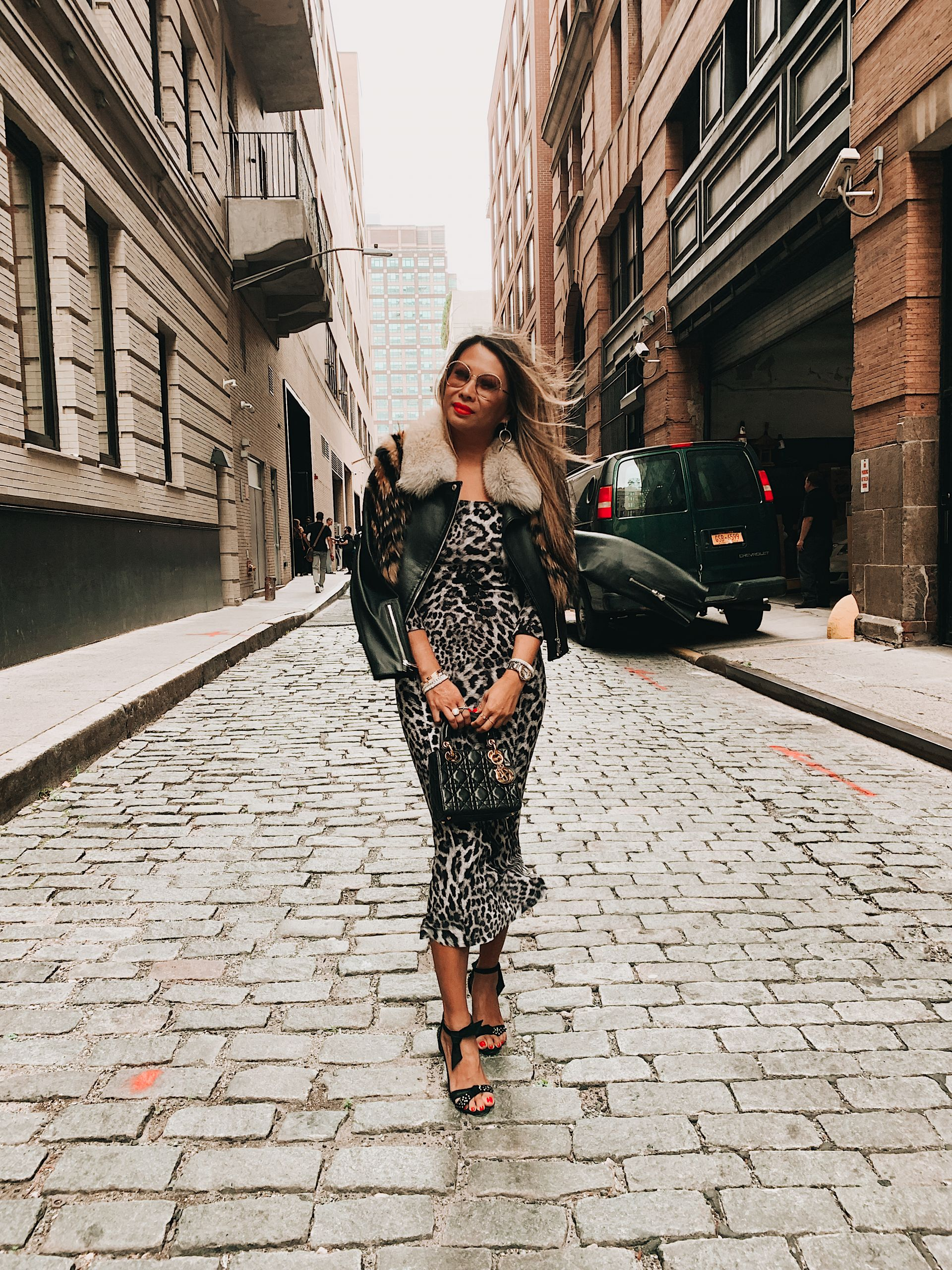Norma Kamali Off Shoulder Fishtail Dress, NYFW, NYFW 2019, New York fashion week 2019, New York fashion week as a blogger, truths about NYFW, fashion week, street style, New York style, outfit ideas, blogger, travel blogger, advice from a blogger, blogging advice, blogging tips, influencer tips, influencer advice, tips from an influencer on New York fashion week, fashion blogger, Jennifer woman, Red Soles and Red Wine