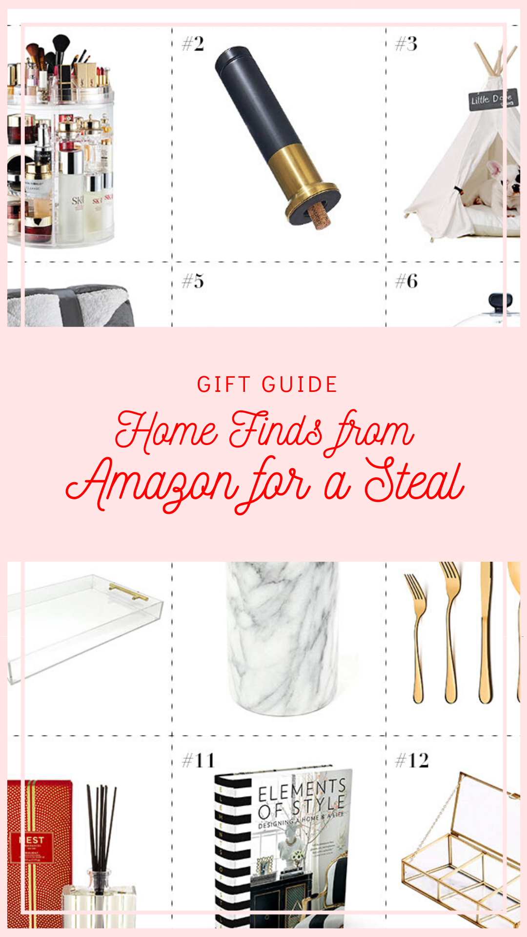 gift guide home finds from amazon, gifts from amazon, home gifts from amazon, gifts for the hostess, gifts for the homebody, gift ideas for her, best gift ideas for her, home decor gifts ideas, home finds gift ideas, red soles and red wine, 2019 gift guide