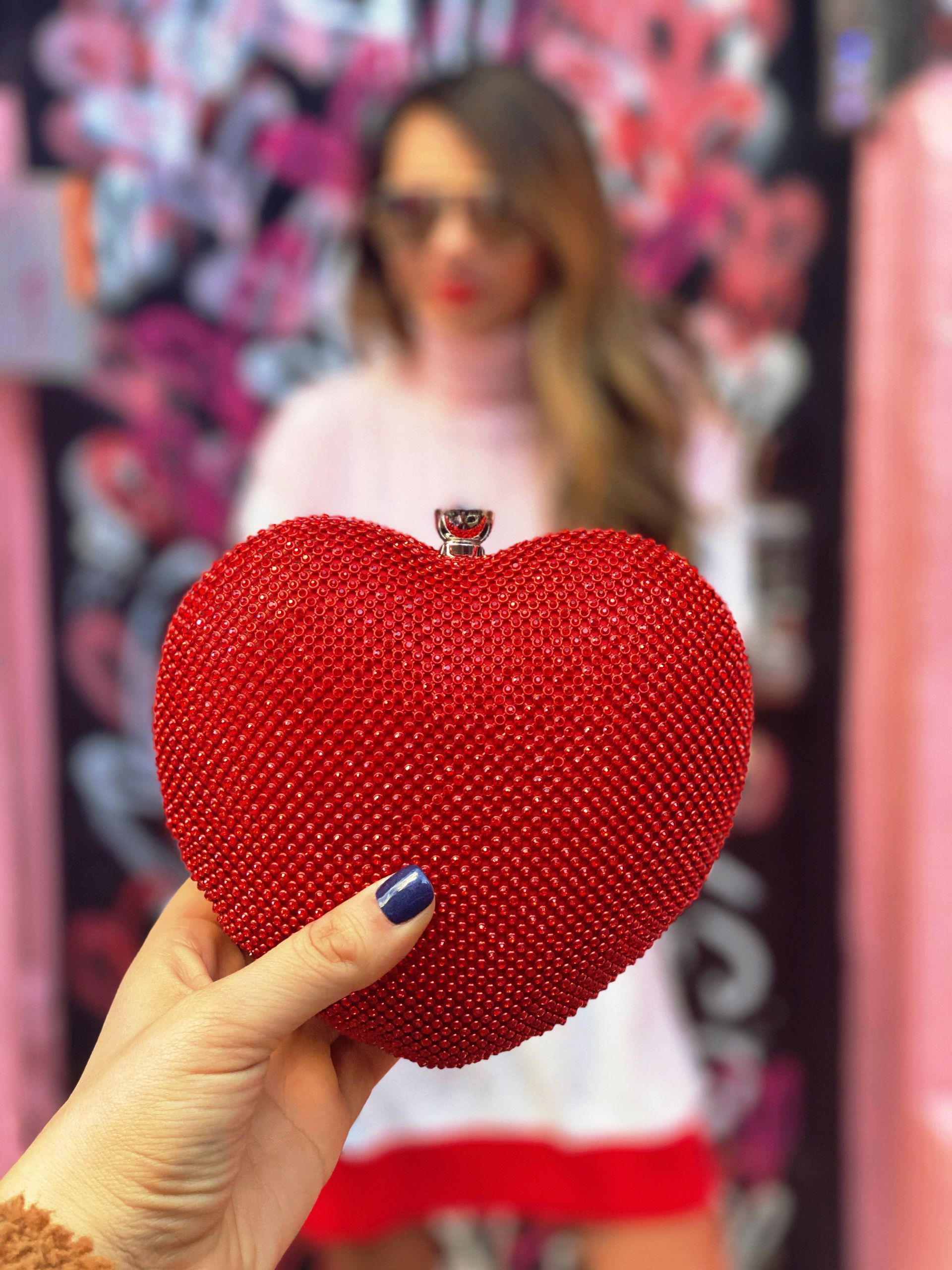 what to wear for Valentine's Day, Valentine's Day Inspired style, Valentine's Day outfit ideas, Vday outfits, Vday outfit ideas, Vday dresses, Vday style, Galentine's Day Style, Galentin'es day outfit ideas, what to wear for date night, date night style, valentine's day outfits for women, women's fashion, style blogger, fashion blogger, street style, how to style white boots, white boots outfit ideas, sweater dress outfit ideas, how to style a sweater dress, colorblocked sweater dress, pink and red dress style, Akira LOVE ME RHINESTONE BAG, Schutz Maryana Boot, Lovers + Friends Kane Sweater Dress in Pink & Red