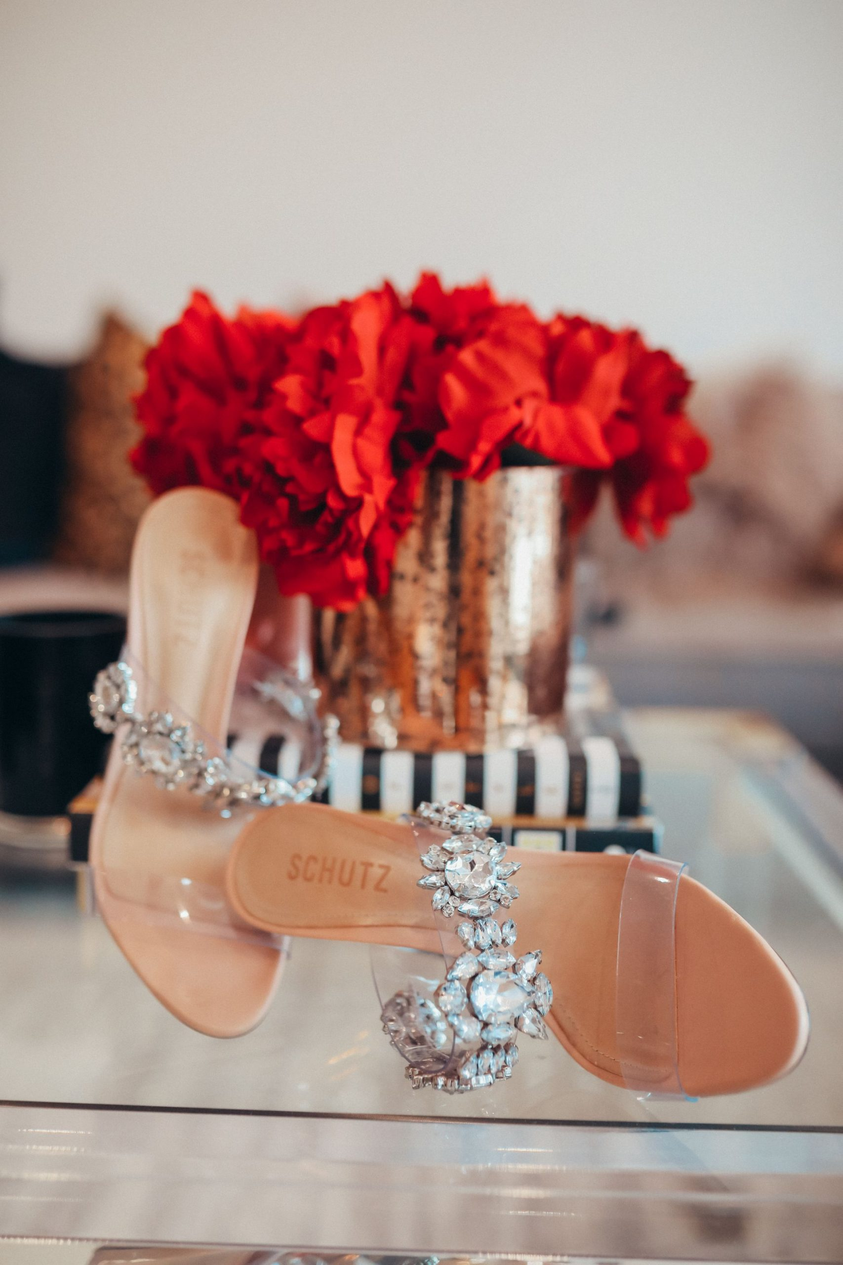 intimate questions, Q&A questions, rapid fire question ideas, Red Soles and Red Wine, Jennifer Worman, Schutz Blanck Clear Slide Sandal, clear heels, clear heeled sandals, crystal sandals, sandals for Spring