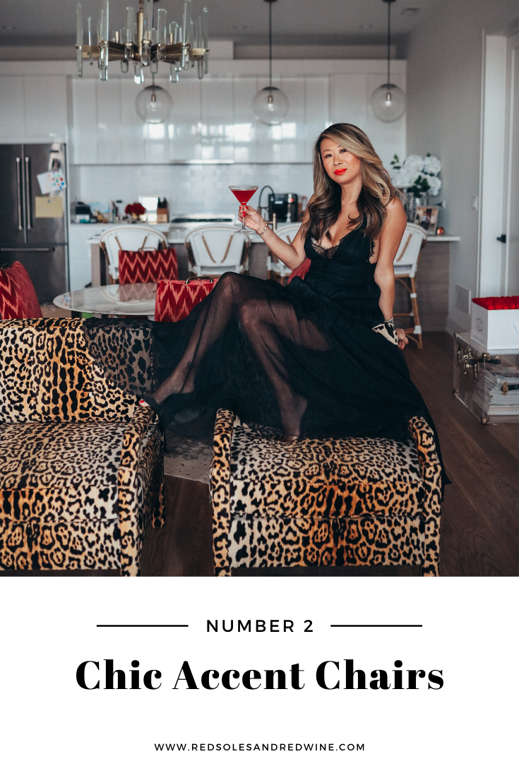 5 ways to add leopard into your home, leopard home decor, leopard home designs, leopard room design, leopard furniture, leopard chairs, leopard pillows, leopard bench, animal print home trends, animal print home decor, animal print interior design, interior design tips, home inspiration, home inpirationimages, feminine home decor, feminine home design, home blogger, Jennifer Worman, Red Soles and Red Wine, leopard accent chairs, leopard accent chair styling, leopard chair ideas, leopard chair inspiration