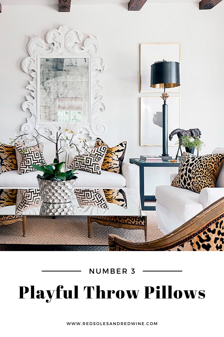 5 ways to add leopard into your home, leopard home decor, leopard home designs, leopard room design, leopard furniture, leopard chairs, leopard pillows, leopard bench, animal print home trends, animal print home decor, animal print interior design, interior design tips, home inspiration, home inpiration images, feminine home decor, feminine home design, home blogger, Jennifer Worman, Red Soles and Red Wine, leopard throw pillow inspiration, leopard throw pillows, leopard pillows, fun throw pillow inspiration