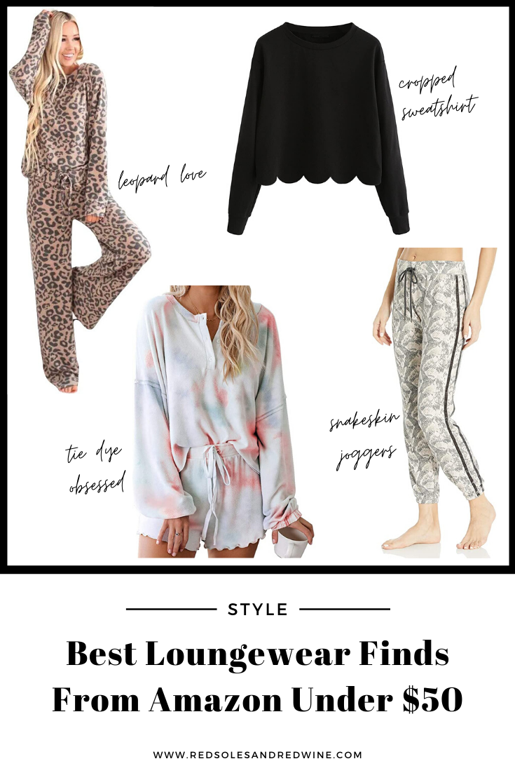 Best Loungewear Finds From Amazon Under $50, amazon finds, amazon loungewear, amazon comfy clothes, amazon lounge sets, best loungewear, loungewear style, tie dye loungewear, leopard print loungewear, must have loungewear, cozy style, outfits from home ideas, at home outfit ideas, quarantine style, quarantine outfits, Red Soles and Red Wine, Jennifer Worman