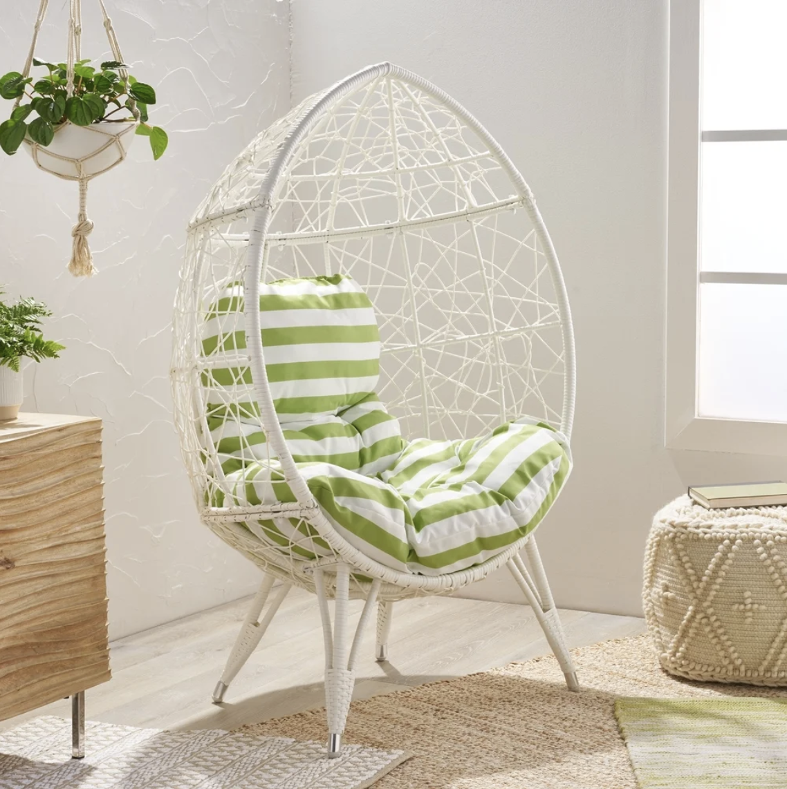 Target Southport Patio Egg Chair, Target Southport Patio Egg Chair dupes, affordable dupes for the Target Southport Patio Egg Chair, egg chair inspiration, egg chair home ideas, egg chairs, wicker egg chairs, hanging egg chairs, interior, home decor, home interior, interior styling, target dupes, egg chair indoor furniture inspiration, Jennifer Worman, Red Soles and Red Wine, Gavilan Indoor Wicker Teardrop Chair