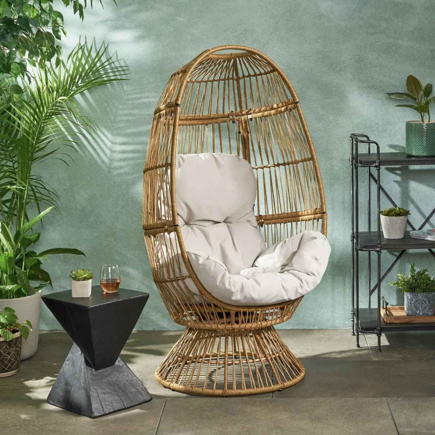 Target Southport Patio Egg Chair, Target Southport Patio Egg Chair dupes, affordable dupes for the Target Southport Patio Egg Chair, egg chair inspiration, egg chair home ideas, egg chairs, wicker egg chairs, hanging egg chairs, interior, home decor, home interior, interior styling, target dupes, patio furniture, patio furniture inspiration, Jennifer Worman, Red Soles and Red Wine, Pintan Outdoor Wicker Swivel Egg Chair Overstock