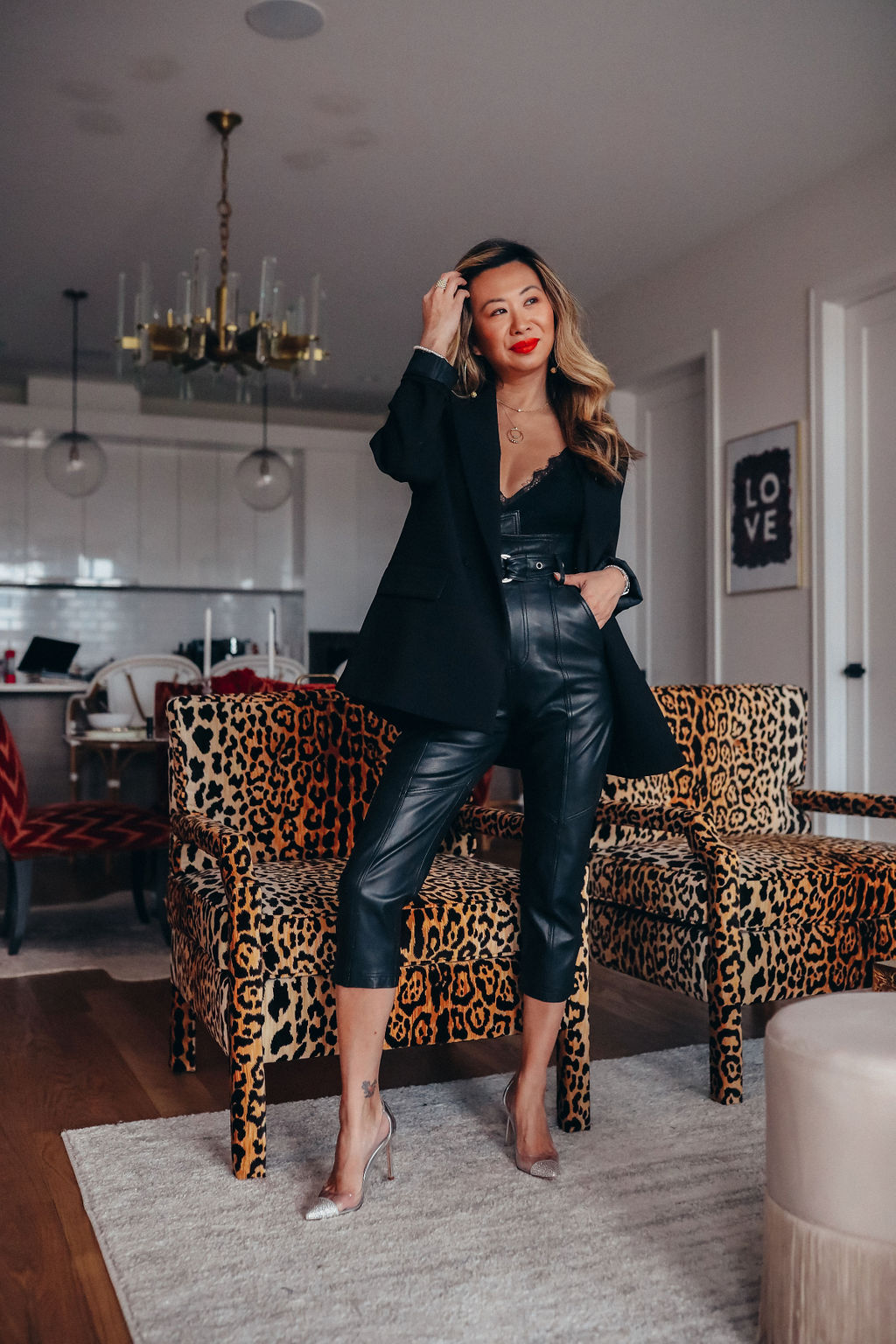 Anniston leather pants, corporate fashion to full-time blogging, how to get a career blogging, how to start a blogging career, blogging as a job, blogging to make money, career advise, women career advice, women's fashion industry careers, influencer careers, influencer advice, how to make money as an influencer, full time blogging, full time influencer, full time work as a blogger, how to work full time as a blogger, Red Soles and Red Wine, Jennifer Worman, career advice for women, job interview advice, switching careers advice, switching jobs advice, job advice for women, Lagos jewelry, Lagos Caviar Gold Double Circle Pendant Necklace, Lagos Caviar Gold Ball Beaded Necklace, Lagos Caviar Gold Hoop Earrings, Lagos Caviar Icon Semiprecious Stone Bracelet, Lagos Caviar Color Semiprecious Stone Bracelet