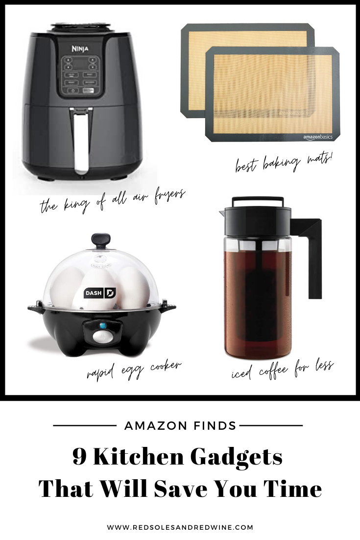 9 kitchen gadgets that will save you time, best ktichen gadgets, time saving kitchen tools, must have kitchen tools, kitchen tools from amazon, kitchen finds from amazon, amazon kitchen gadgets, instant rice cooker, air fryer, rapid egg cooker, must have kitchen essentials, kitchen essentials, amazon finds, amazon favorites, amazon best selelrs, cooking at home, best tools for cooking at home, what gadgets you need to cook from home, busy mom kitchen tools, kitchen gadgets for busy moms, Jennifer Worman, Red Soles and Red Wine
