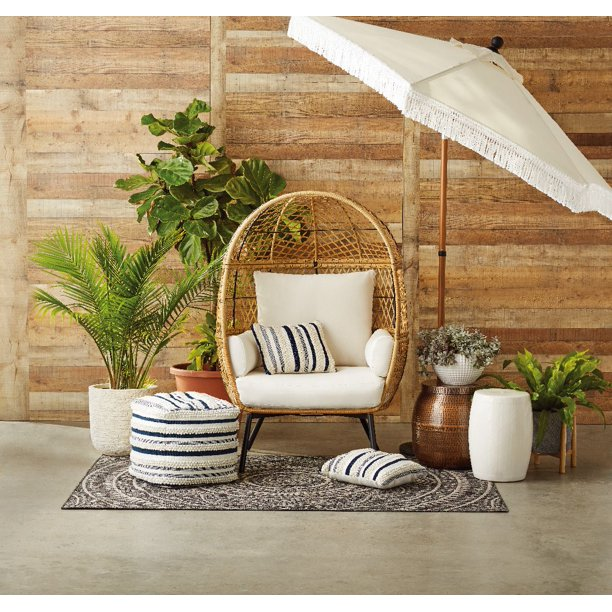 Target Southport Patio Egg Chair, Target Southport Patio Egg Chair dupes, affordable dupes for the Target Southport Patio Egg Chair, egg chair inspiration, egg chair home ideas, egg chairs, wicker egg chairs, hanging egg chairs, interior, home decor, home interior, interior styling, target dupes, egg chair indoor furniture inspiration, Jennifer Worman, Red Soles and Red Wine