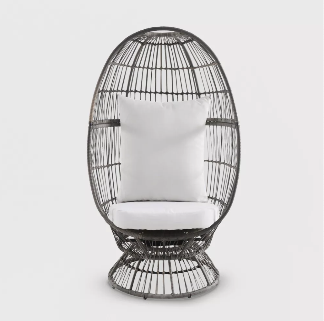 Target Southport Patio Egg Chair,Target Southport Patio Egg Chair dupes, affordable dupes for theTarget Southport Patio Egg Chair, egg chair inspiration, egg chair home ideas, egg chairs, wicker egg chairs, hanging egg chairs,interior, home decor, home interior, interior styling, target dupes, egg chair indoor furnitureinspiration,Jennifer Worman, Red Soles and Red Wine