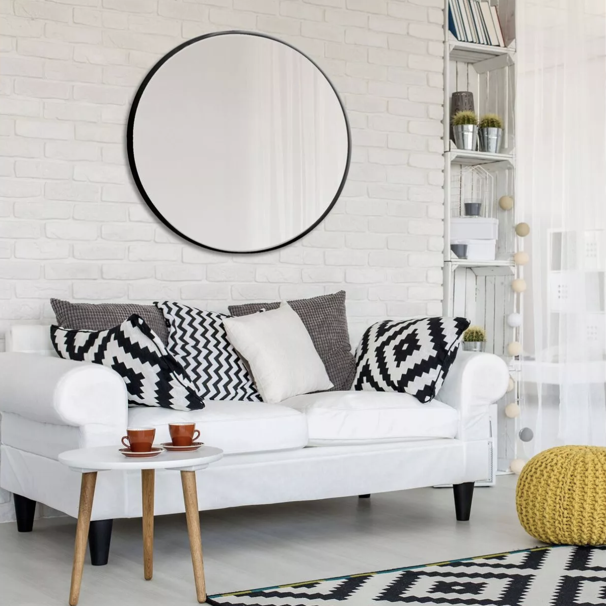 How to style a circle mirror in your home