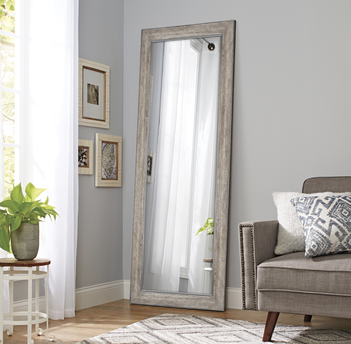 Rustic full length mirror for under $100
