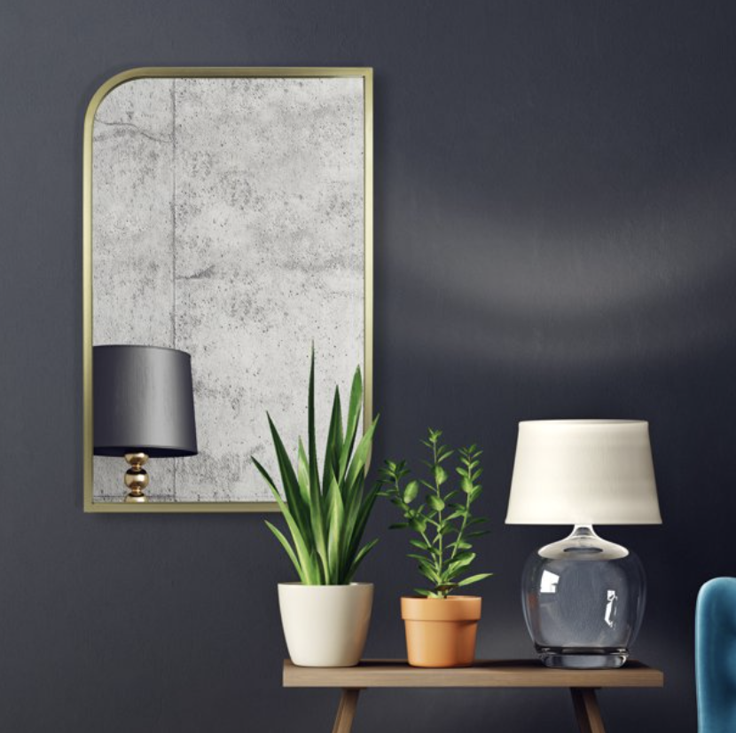 How to style a gold mirror