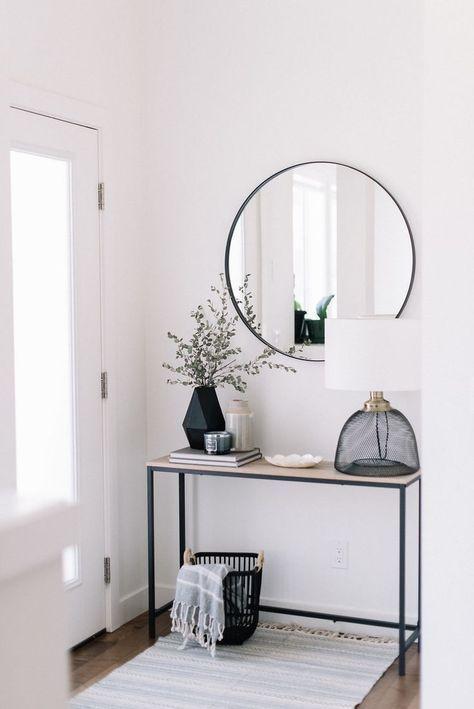 round entryway mirror inspiration