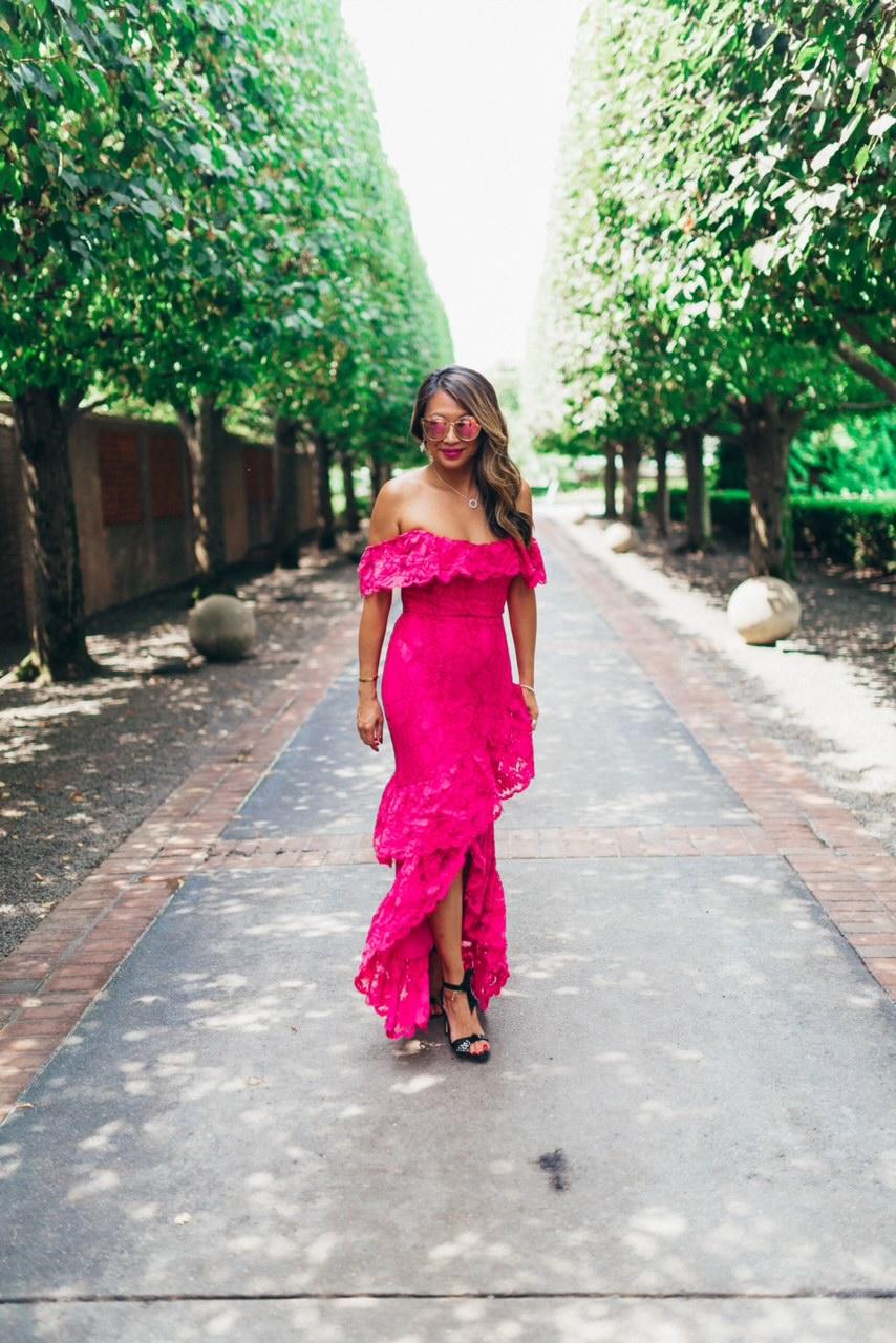 30 Dresses under $100, must have dresses for Summer, pink dresses for Summer, how to style a pink dress, pretty pink dresses for a steal, pink lace dress style, Revolve Pink Dress