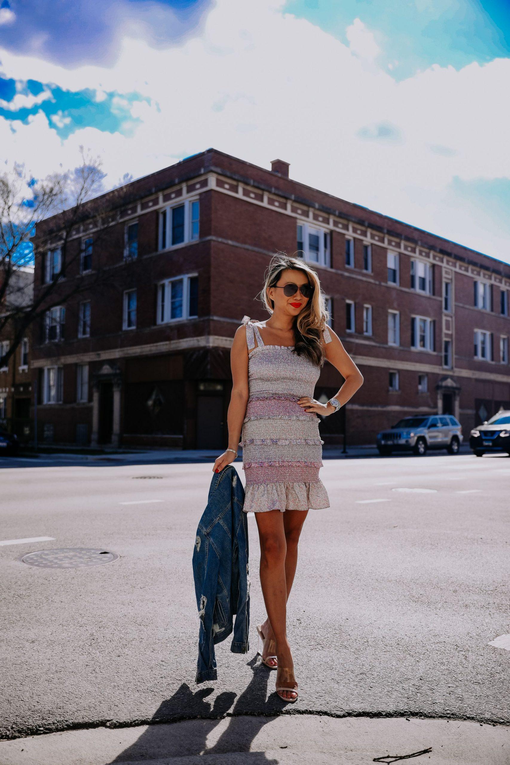 easy summer dresses under $100, fun dresses for Summer, colorful summer dresses, colorful dress outfit ideas, how to style a colorful dress for Summer, smocked dress red dress boutique